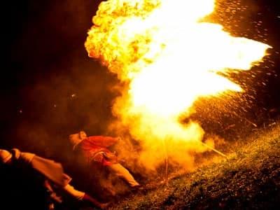Amber fireshow utført av Eryk Popkiewicz